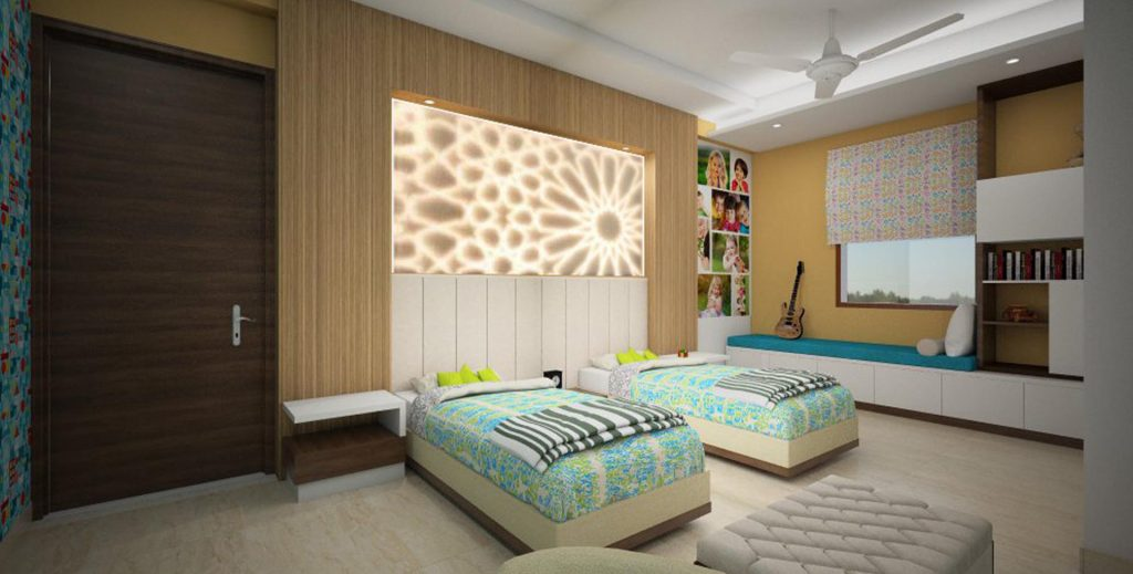 FF Kids room bedback